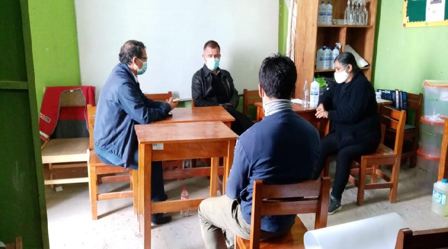 Directores de UGEL y CETPRO se reúnen con gerente municipal para planificar acciones de trabajo y mejorar el tema educativo